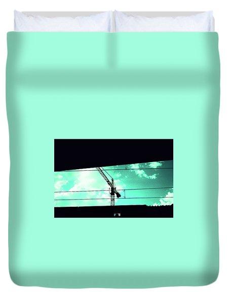 Crane And Shadows Duvet Cover