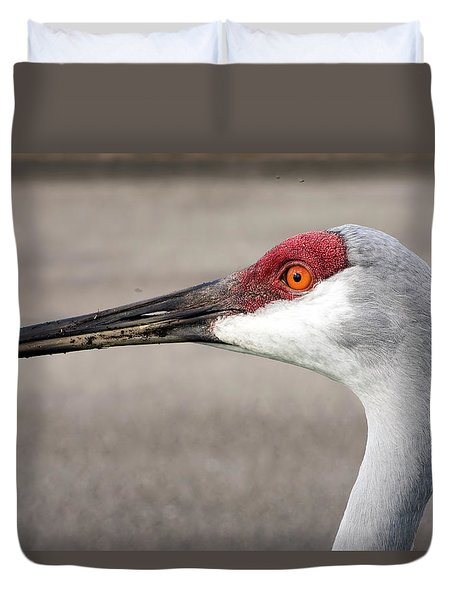 Crane Closeup Duvet Cover
