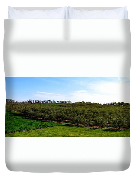 Crane Orchards Duvet Cover