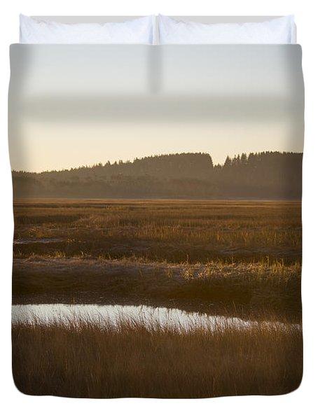 Crane Reservation Sunrise Crane Beach Ipswich Ma Duvet Cover
