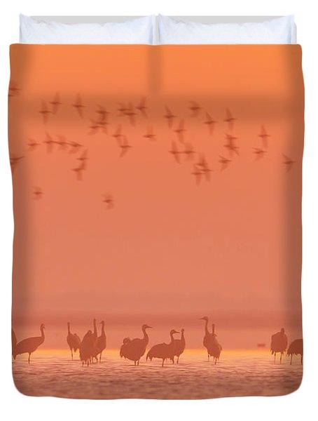 Cranes In The Evening Duvet Cover