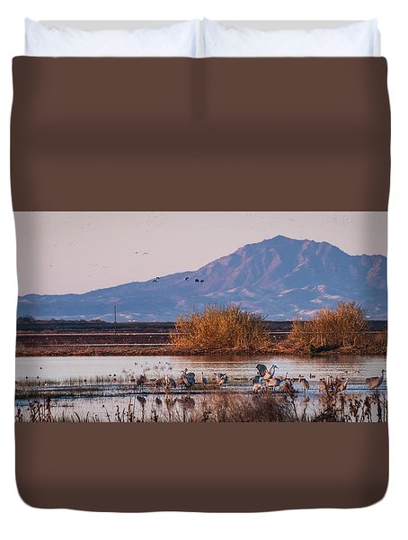 Cranes In The Morning Duvet Cover