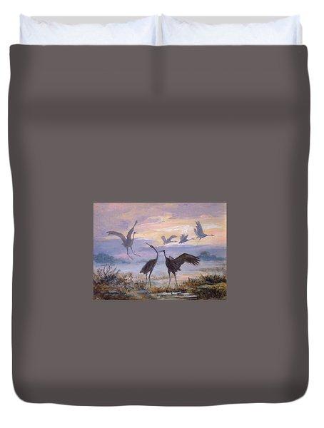 Cranes Duvet Cover by Irek Szelag