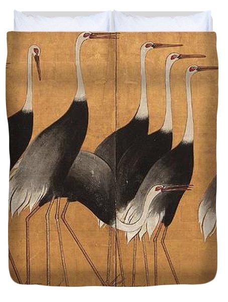 Cranes Duvet Cover
