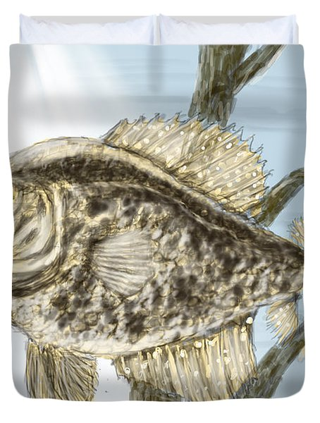 Crappie Time - 2 Duvet Cover