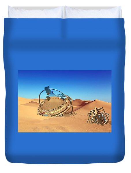 Crash Space Craft In The Desert Duvet Cover