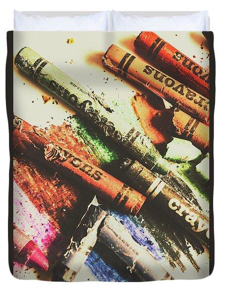 Crash Test Crayons Duvet Cover