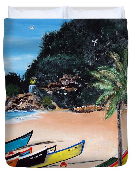 Crashboat Beach I Duvet Cover by Luis F Rodriguez