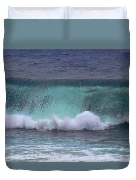 Crashing Wave Duvet Cover by Pamela Walton