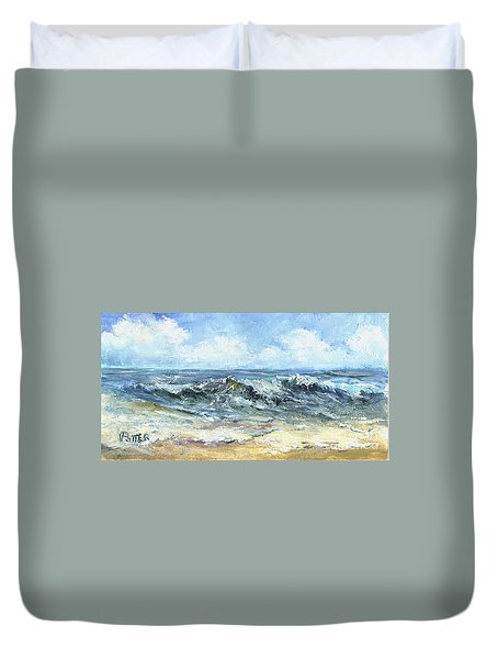 Crashing Waves In Florida  Duvet Cover