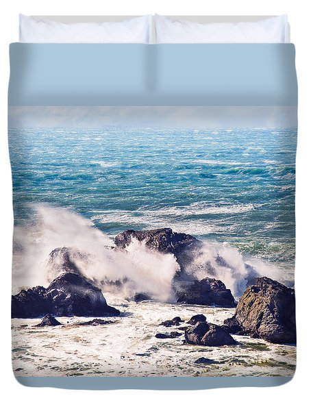 Crashing Waves Duvet Cover by Kim Wilson