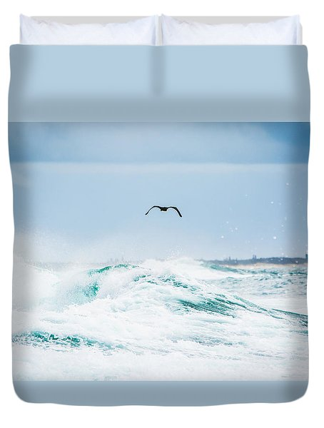Crashing Waves Duvet Cover by Parker Cunningham