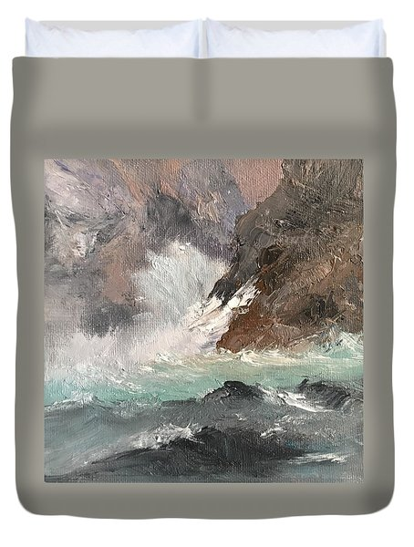 Crashing Waves Seascape Art Duvet Cover