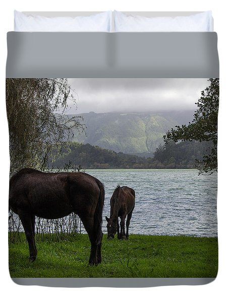 Heavenly Horses Duvet Cover