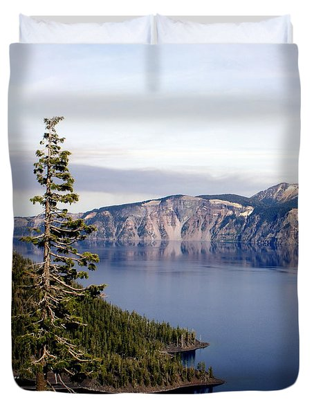 Crater Lake 3 Duvet Cover by Marty Koch