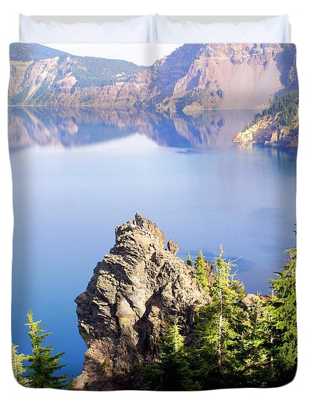 Crater Lake 4 Duvet Cover by Marty Koch