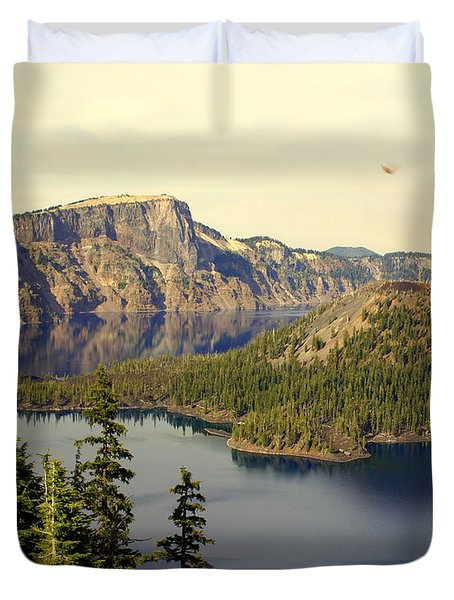 Crater Lake 6 Duvet Cover by Marty Koch