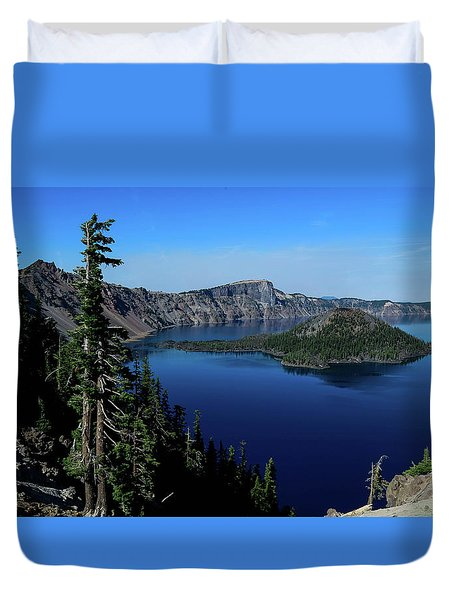Crater Lake Duvet Cover