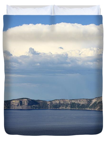 Crater Lake Duvet Cover by Carol Groenen