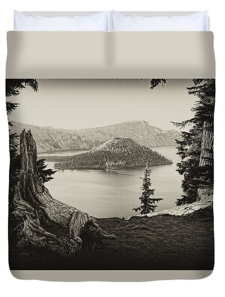 Crater Lake Duvet Cover by Hugh Smith
