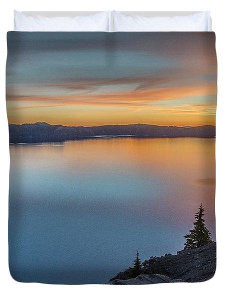 Crater Lake Morning No. 1 Duvet Cover