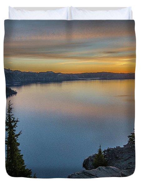 Crater Lake Morning No. 2 Duvet Cover