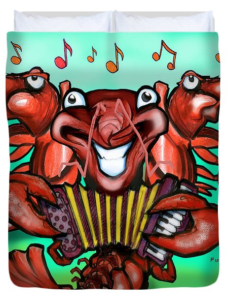 Crawfish Band Duvet Cover
