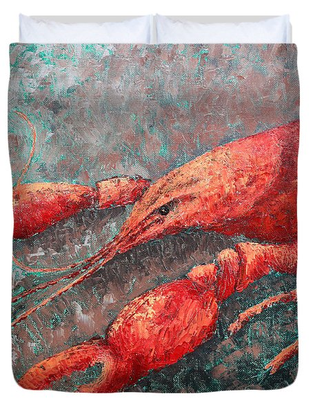 Crawfish Duvet Cover by Todd A Blanchard