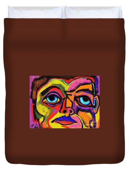 Crayon Bob Duvet Cover