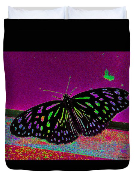 Crayon Butterfly Duvet Cover