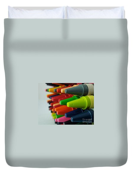 Crayons Duvet Cover by Chad and Stacey Hall