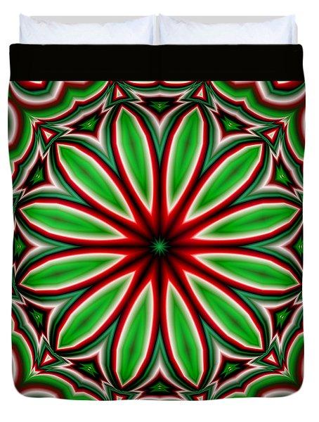 Crazy Christmas Flower Duvet Cover