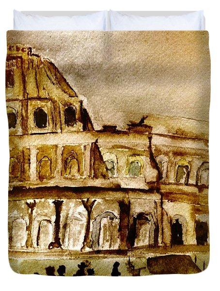 Crazy Colosseum Duvet Cover