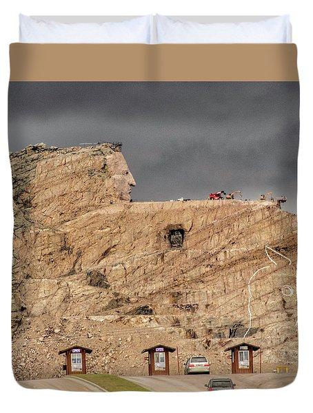 ...entrance Crazy Horse Memorial South Dakota.... Duvet Cover