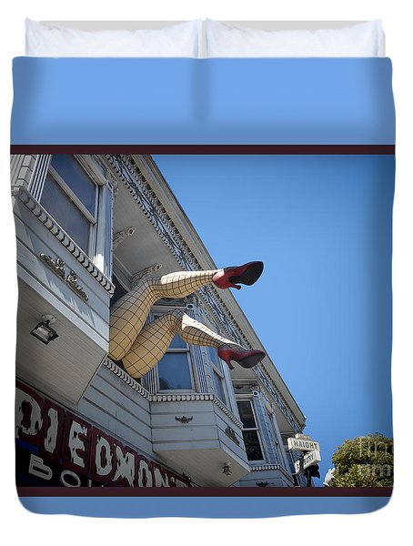Crazy Legs Duvet Cover by Judy Wolinsky