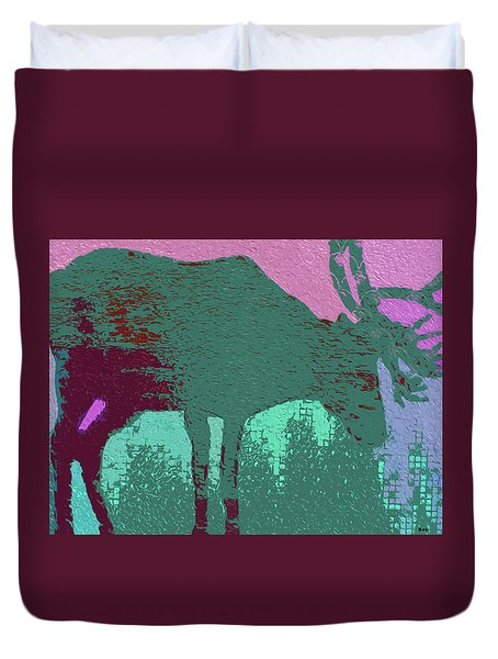 Crazy Looking Moose Duvet Cover