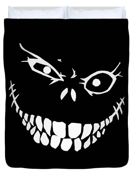 Crazy Monster Grin Duvet Cover by Nicklas Gustafsson
