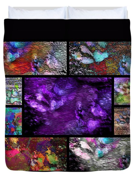 Crazy Paw Print Collage Duvet Cover