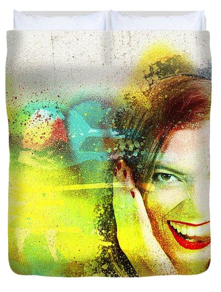 Crazy Pin-up Graffiti Duvet Cover