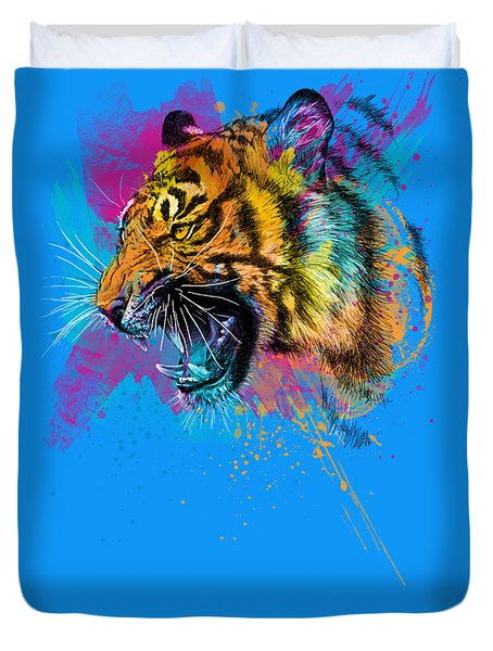 Crazy Tiger Duvet Cover