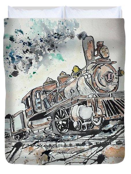 Crazy Train Duvet Cover