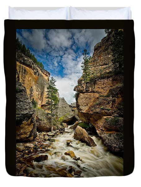 Crazy Woman Canyon Duvet Cover by Rikk Flohr