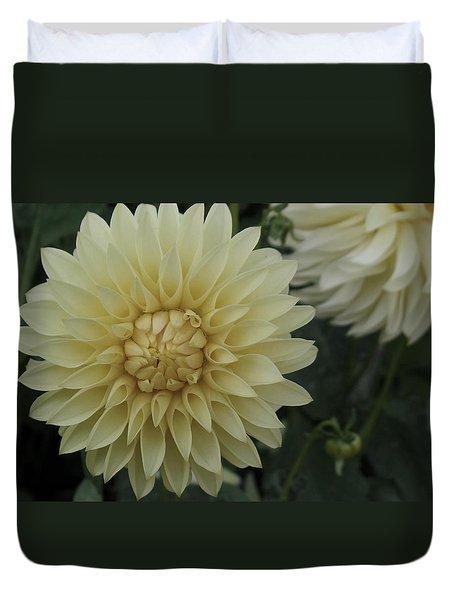 Cream Dahlia Duvet Cover
