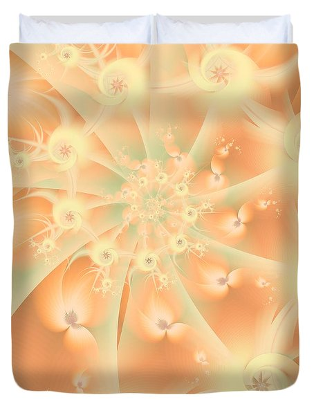 Creamsicle Mint Duvet Cover