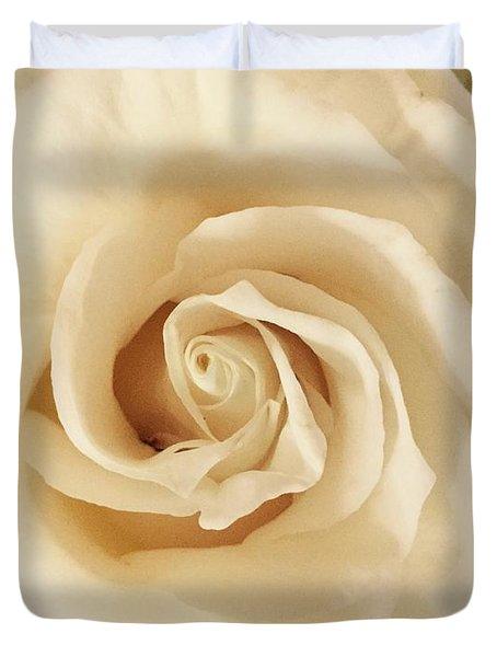 Creamy Rose Duvet Cover