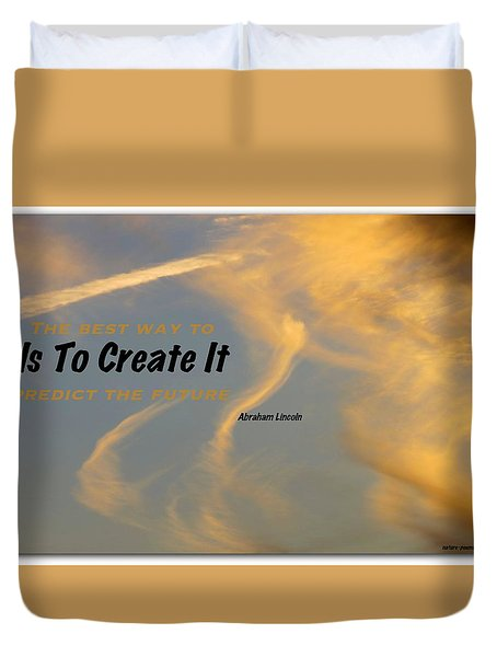 Create Greatness Duvet Cover by David Norman