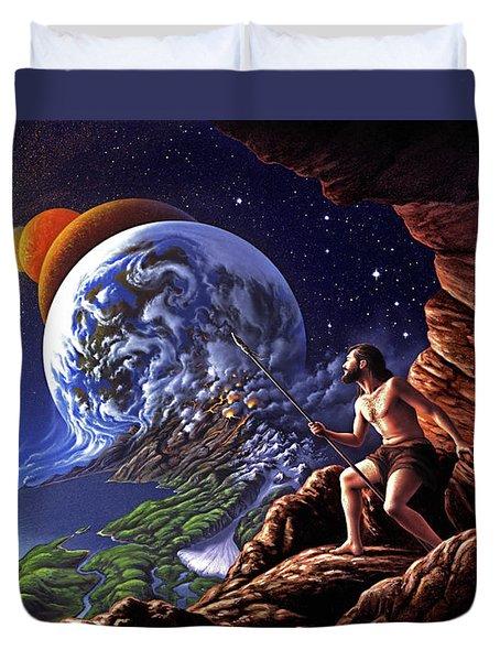 Creation Duvet Cover by Jerry LoFaro