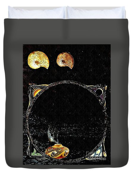 Creation Of Water Duvet Cover by Sarah Loft