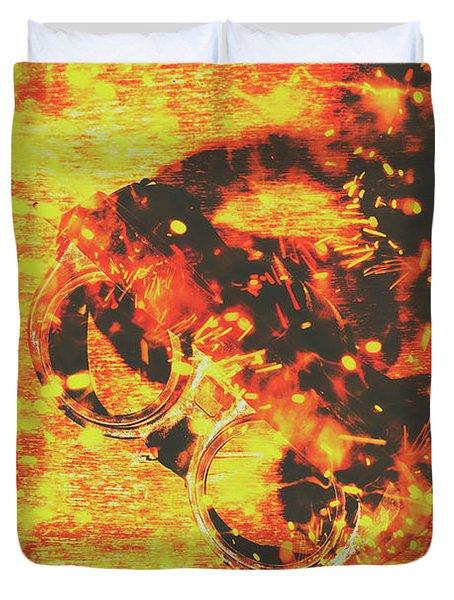 Creative Industrial Flames Duvet Cover