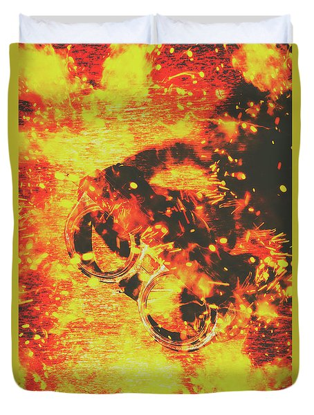 Creative Industrial Flames Duvet Cover